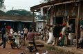 Village market scene, Uganda Royalty Free Stock Images