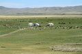 Village Mongolie de Yurt Photo stock