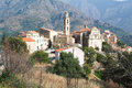 The village of montegrosso on corsica island france Stock Images