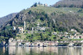 The village of Morcote on lake Lugano Royalty Free Stock Photo