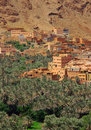 Village among Moroccan hills Royalty Free Stock Photo