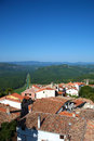 The village of motovun roof houses in small town in croatia Stock Photos