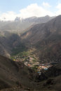 Village in mountain gorge with iranian iran Royalty Free Stock Photography