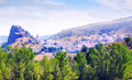 Village in mountains of castilla la mancha huelamo cuenca Stock Image
