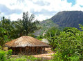 The village is in the mountains fabulously beautiful landscape africa mozambique Stock Images