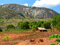 The village is in the mountains fabulously beautiful landscape africa mozambique Stock Photography