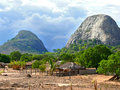 The village is in the mountains fabulously beautiful landscape africa mozambique Royalty Free Stock Photos