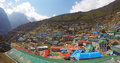 The village of Namche Bazaar Royalty Free Stock Photo