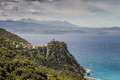 Village of Nonza on Cap Corse in Corsica Royalty Free Stock Photo