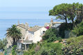 The village of nonza on corsica island france Stock Photos