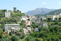 The village of nonza on corsica island france Royalty Free Stock Images