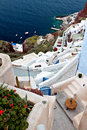 Village of Oia at Santorini island, Greece Royalty Free Stock Photography