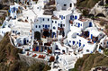 Village of Oia at Santorini island, Greece Royalty Free Stock Images