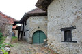 Village of old wine cellars rajac a with traditional houses in the were built by peasants from the rajac Stock Images