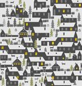 Village is a one-story houses, fences, firs, dogs and kennels
