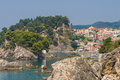 The village of Parga in Epirus Stock Image