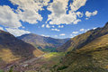 Village of Pisac and Urubamba River Royalty Free Stock Photo