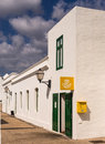Village post office in lanzarote canary islands correos guatiza Stock Photography