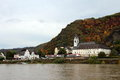 Village on the Rhine Royalty Free Stock Images