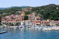 The village of Rio Marina on Elba island, Italy Royalty Free Stock Photo