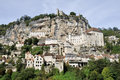 The village of rocamadour france in midi pyrenees Royalty Free Stock Photo