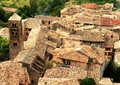 Village roofs in France Royalty Free Stock Photo