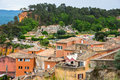 Village of Roussillon in the Provence Royalty Free Stock Photo