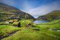 Village of Saksun, Faroe Islands, Denmark Royalty Free Stock Photo