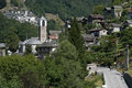 The village of San Bartolomeo on Verzasca valley Royalty Free Stock Photos