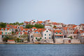 Village Sepurine, Prvic island, view from the sea Royalty Free Stock Photo