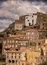 Village of speloncato in the balagne region of corsica mountain northern Royalty Free Stock Images