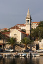 Village splitska on brac island parish church in Stock Images