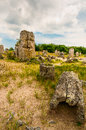 Village stone forest near the bulgarian city of varna unique natural creation pillars Stock Photos