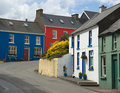 Village street in Eyeries, West Cork, Ireland Stock Image