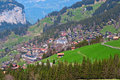 Village in swiss alps Stock Photos