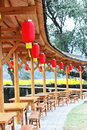 Village teahouse Stock Photo
