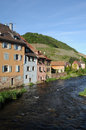 The village of thann in haut rhin france Stock Image