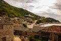 Village traditional featuring brick fujian style houses in matsu Stock Image