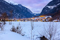 Village umhausen tirol austria travel background Stock Images