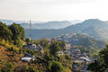 Village urbanization in the mountain and forest doi mae salong chiang rai thailand Royalty Free Stock Photo