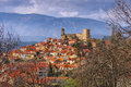 Village of Vernet Les Bains in Pyrenees, Languedoc-Roussillon Royalty Free Stock Photo