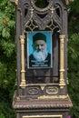 Monument to Hieromonk Michael in the courtyard of the Holy Cross Church, 07/18/2019, village Vozdvizhenie, Ivanovo region, Russia