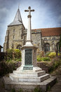 Village war memorial Royalty Free Stock Photo