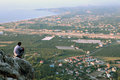 Villages Antalya coast near Kemer, Kiris and Camyuva top view Royalty Free Stock Photo