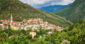 Villages of italy in liguria pictorial hill top Stock Images