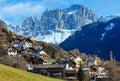 Villaggio di Tires della montagna (Italia). Fotografia Stock