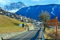 Villaggio di Tires della montagna (Italia). Immagini Stock Libere da Diritti