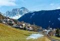 Villaggio di tires della montagna italia Fotografia Stock