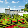 Villandry castle Royalty Free Stock Image