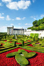 Villandry castle Royalty Free Stock Photos
